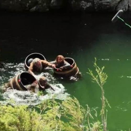 See the making of The Hobbit: The Desolation of Smaug's barrel action sequence