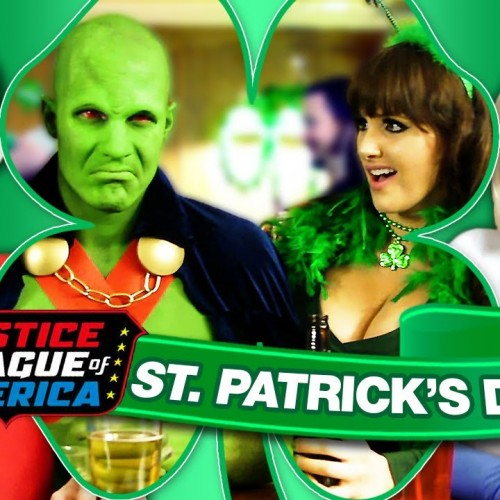 Drunk Justice League just in time for St. Patrick's Day