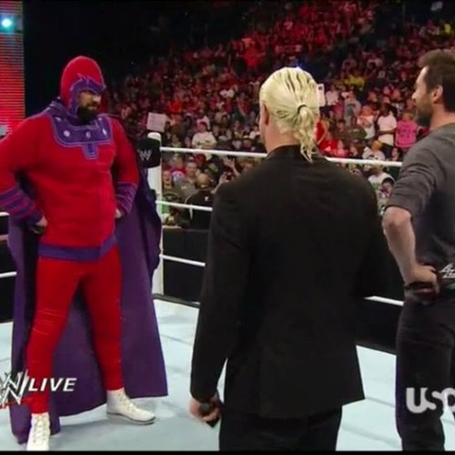 Magneto squares off with Hugh Jackman on WWE Monday Night RAW