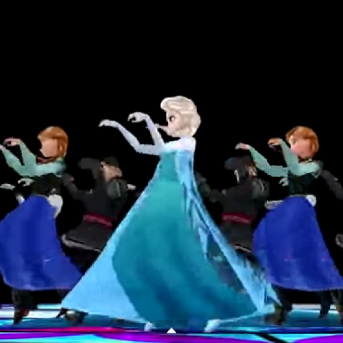 'Frozen' and 'Thriller' mashed up, because reasons