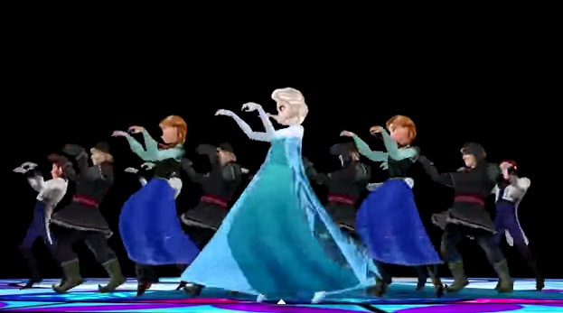 screenshot of frozen and thriller mashup video