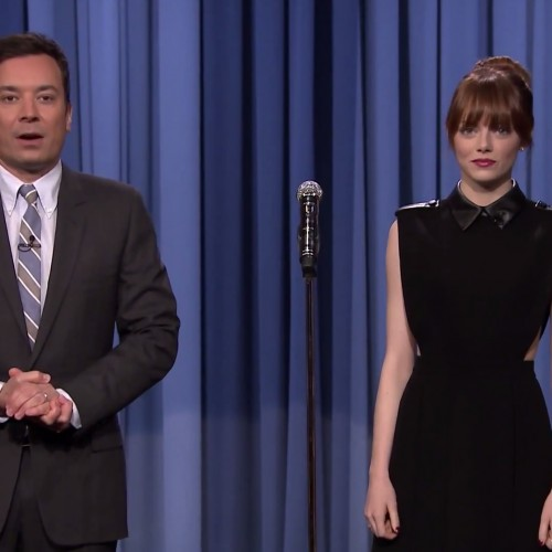 Emma Stone kills it via lip syncing