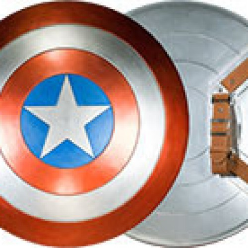 Be like Captain America and Iron Man with replica shield and armor suitcase