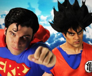 epic rap battles superman goku