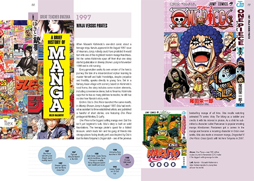 History of Manga Cover and Sample