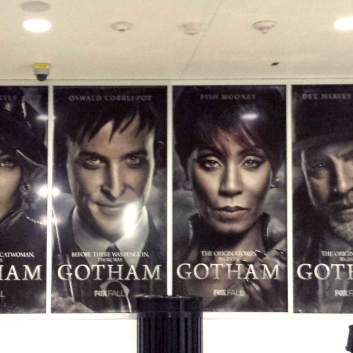 Fox's Gotham character posters side by side in LA