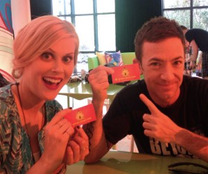 David Faustino and Janet Varney