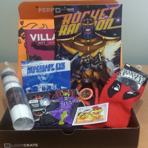 Loot Crate July 2014 Villains Mystery Box Review