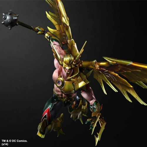 Darkseid and Hawkman Play Arts Kai photos