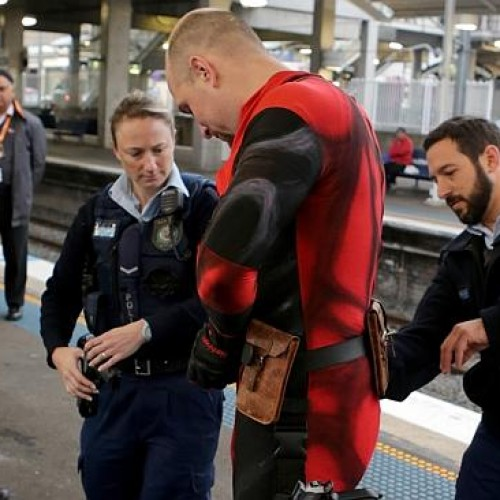 Deadpool cosplayer arrested for guns, grenades and swords