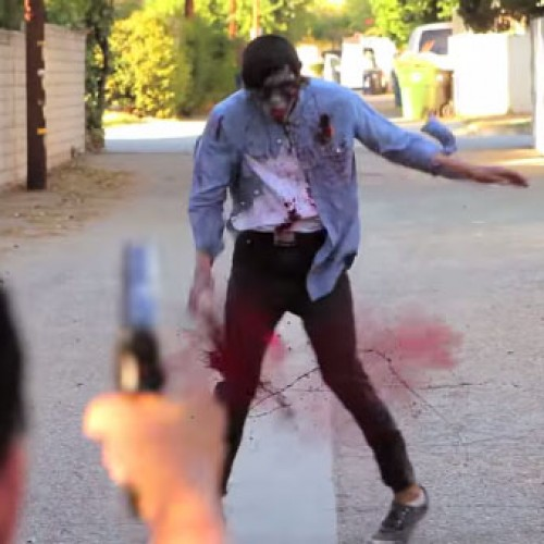 LA gang members shoot up zombie…hilarity ensues