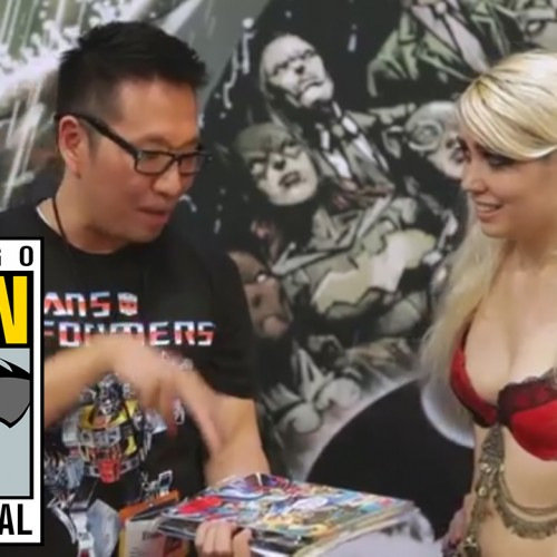 Selling junk comic books at San Diego Comic-Con