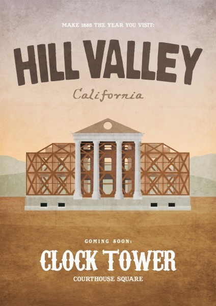 Back To the Future - Hill Valley 1855 by Dean Walton