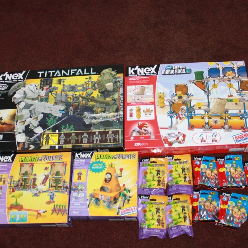 Building the K'Nex Titanfall and Super Mario Bros. U play set