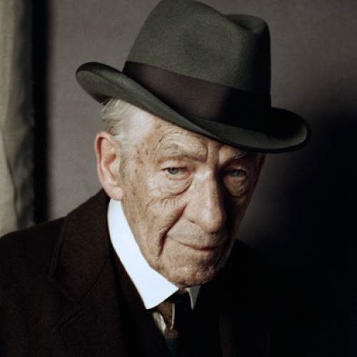 First picture of Sir Ian McKellen as Sherlock Holmes