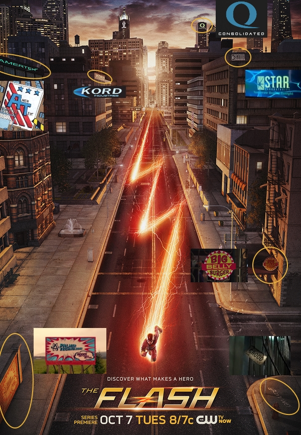 easter egg the flash poster