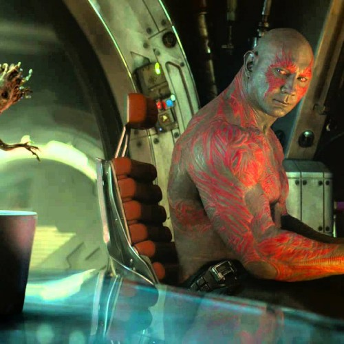 Guardians of the Galaxy's Michael Rooker and Dave Bautista do the Baby Groot Dance scene