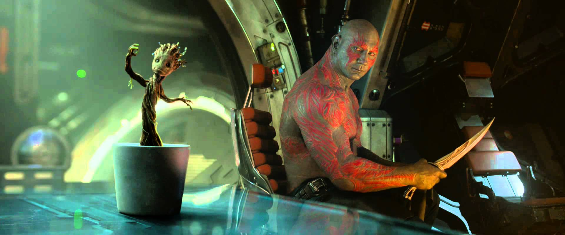guardians of the galaxys michael rooker and dave bautista