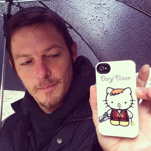 norman reedus walking dead hello kitty