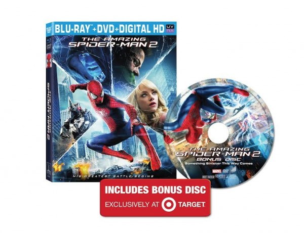 target exclusive amazing spider-man 2 blu-ray
