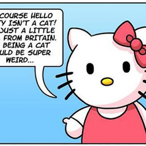 Hello Kitty being a little girl is more disturbing than you think (comic)
