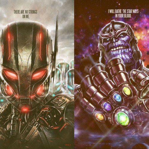 Cool Ultron and Thanos artwork inspired by Marvel Cinematic Universe