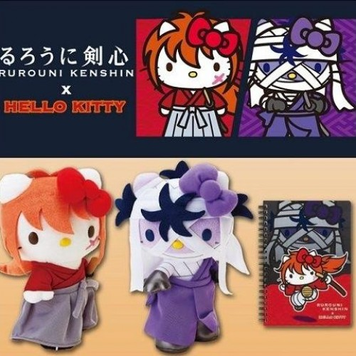 Hello Kitty x Rurouni Kenshin is the greatest thing ever