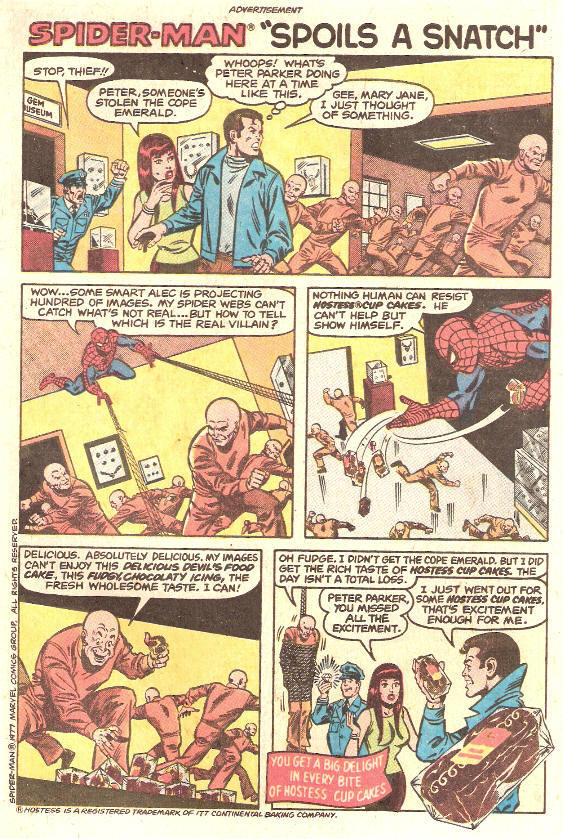 COMICAD hostess spiderman spoils snatch