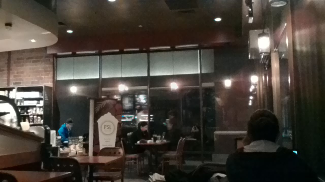 starbucks in the evening with asus memo pad 7 camera