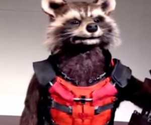 animatronic rocket raccoon guardians of the galaxy