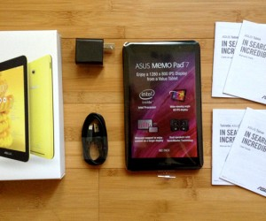 asus memo pad 7 yellow unboxed