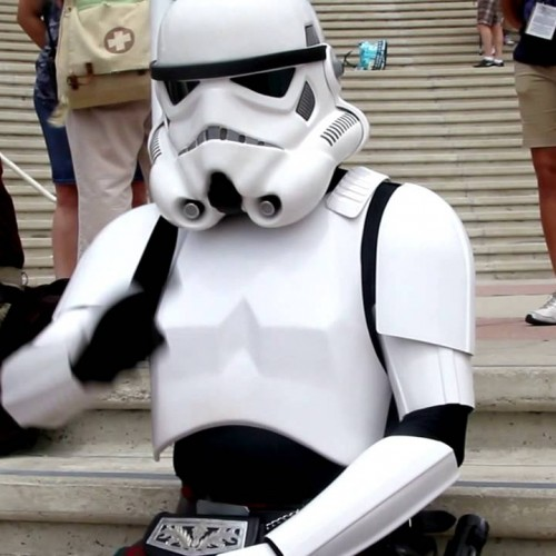 A stormtrooper looking for Comic-Con love (video)