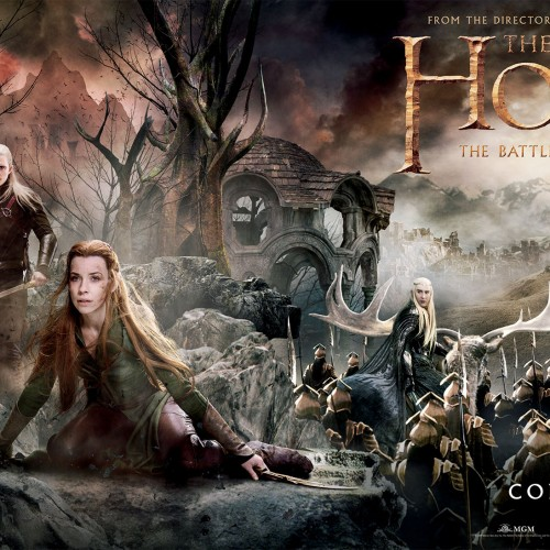 This is one long banner for The Hobbit: The Battle of the Five Armies