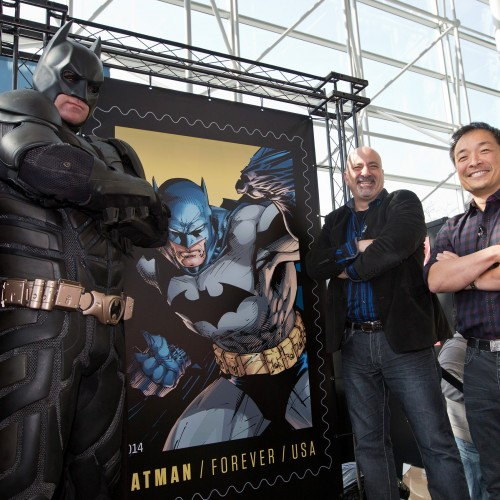 Forever Batman stamp unveiled at New York Comic Con