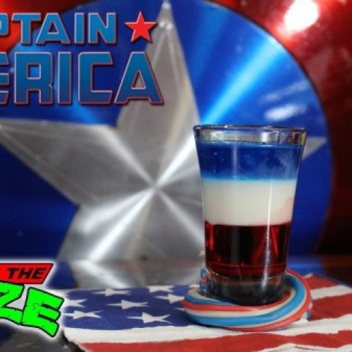 Secret of the Booze's Captain America shot recipe