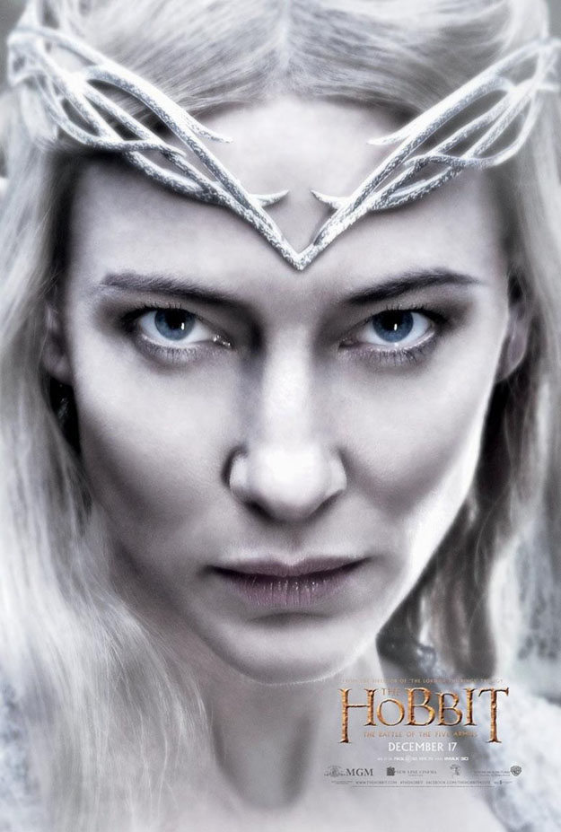 Galadriel-Poster hobbit battle
