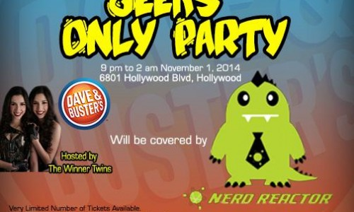 Geeks Only Party this weekend during Comikaze Expo