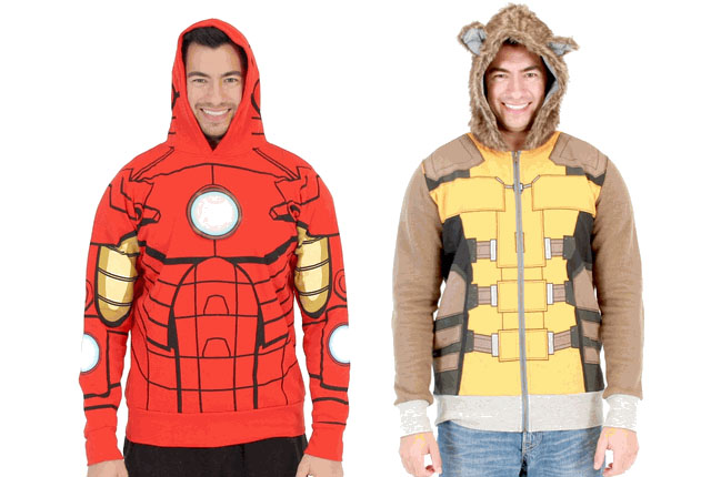 marvel iron man rocket raccoon hoodie