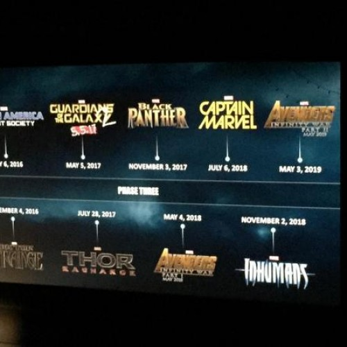 Marvel reveals Black Panther, Captain Marvel, Inhumans, Avengers: Infinity War and more