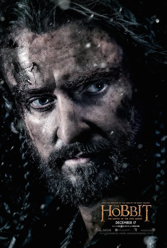thorin hobbit battle of the five armies poster