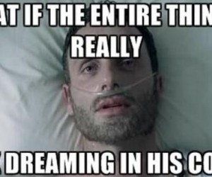 walking dead rick grimes coma dream