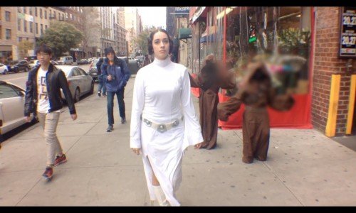 10 hours of Princess Leia walking in NYC