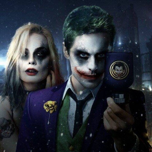 Incredible fan art of Jared Leto and Margot Robbie as The Joker and Harley Quinn