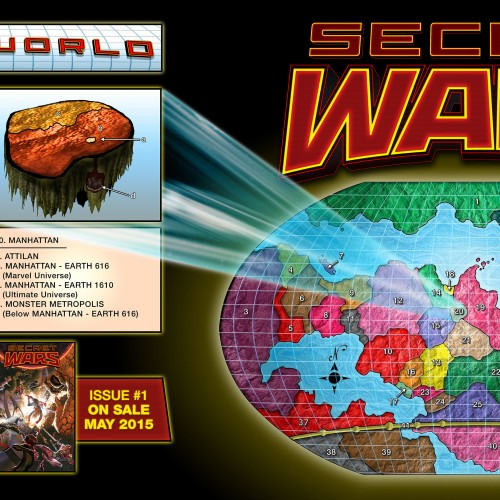 Marvel reveals Secret Wars' Battleworld map