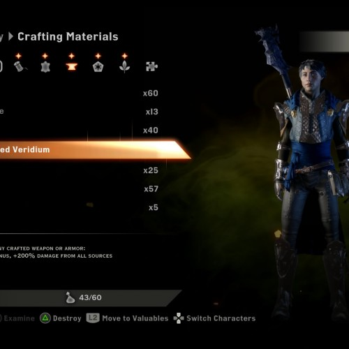 Dragon Age: Inquisition – Unlimited materials/gold exploit (PS4 tested)