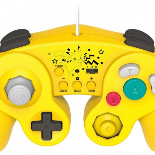 Mario, Luigi and Pikachu-themed Gamecube controllers for Wii U