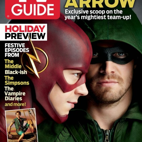 Flash and Arrow crossover event on TV Guide cover