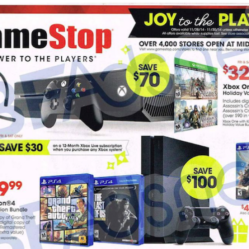 GameStop's 2014 Black Friday ad gets leaked