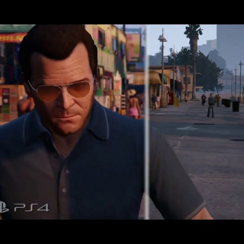 Grand Theft Auto V PS4 and PS3 comparison video