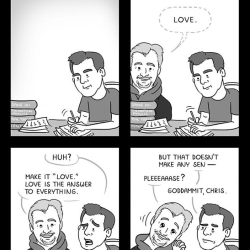 Christopher Nolan's love theme in Interstellar (comic)